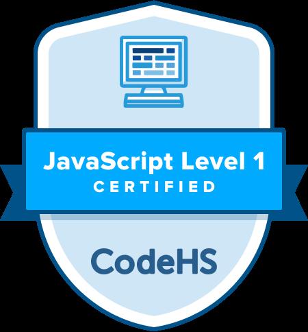 JavaScript Certification Badge