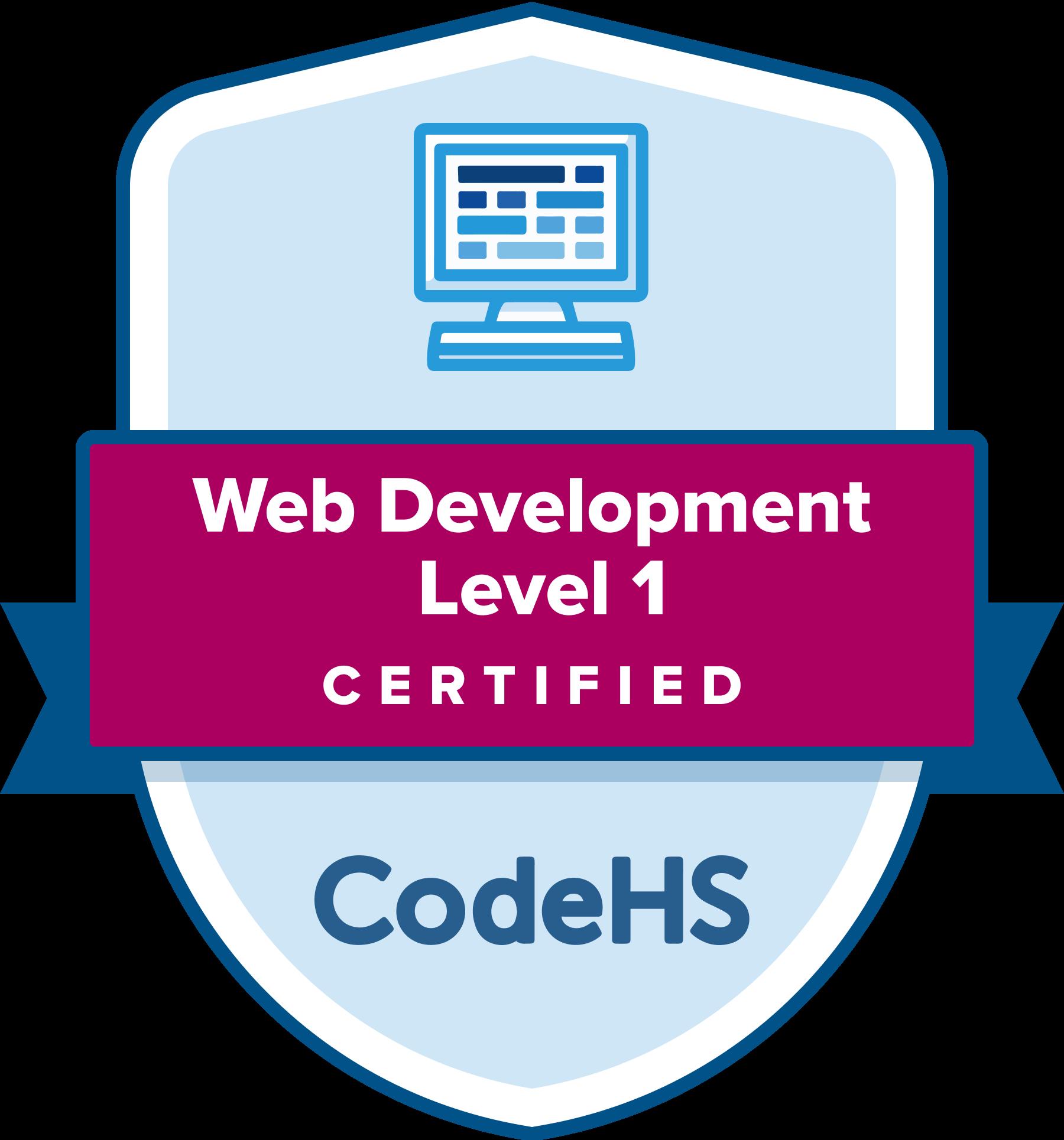 Web Development Certification Badge