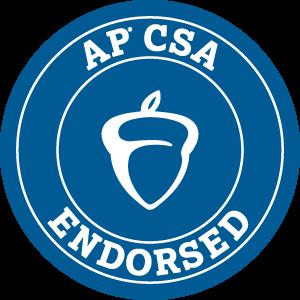 Blue acorn logo reading 'AP CSA Endorsed.'