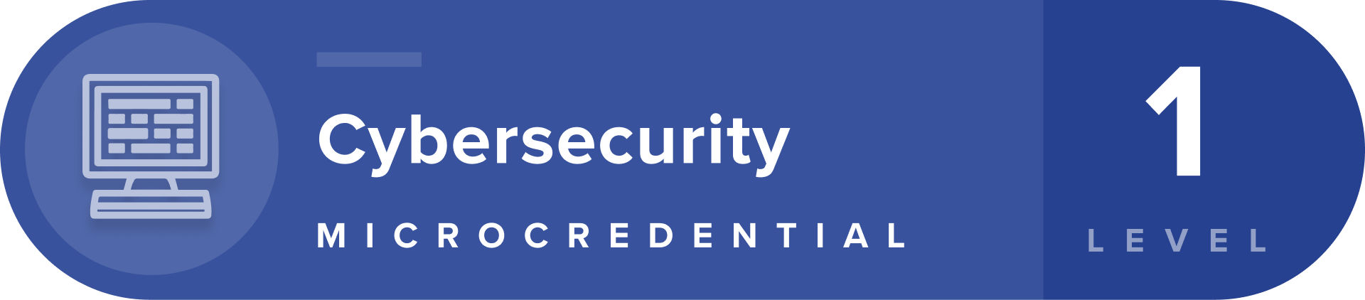 Cybersecurity microcredentials level 1 badge