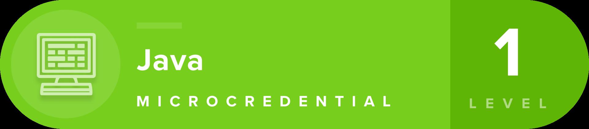 Java microcredentials lavel 1 badge