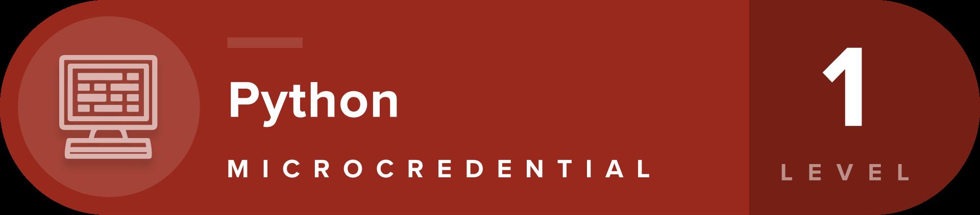 Python microcredentials level 1 badge