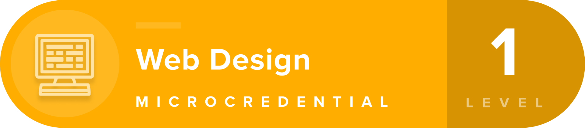 Web Design microcredentials level 1 badge